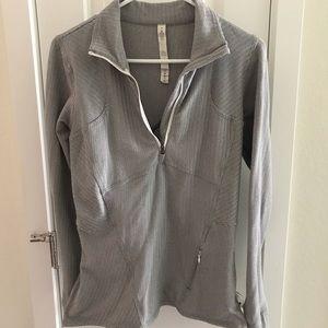 Lululemon jacket size 8 color gray/white